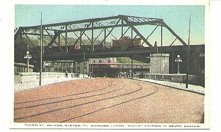 Easton, Pa.  (South) 3rd St. Bridge-L.V. Station 1916