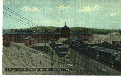 Sayre, Pa. Roundhouse-1910