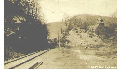 Pittson, Pa.  Forest Castle Cut