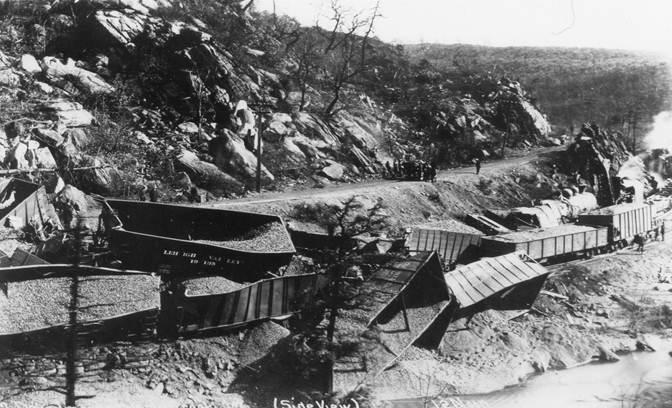 Hazle Creek Jct. west of Weatherly 1913
