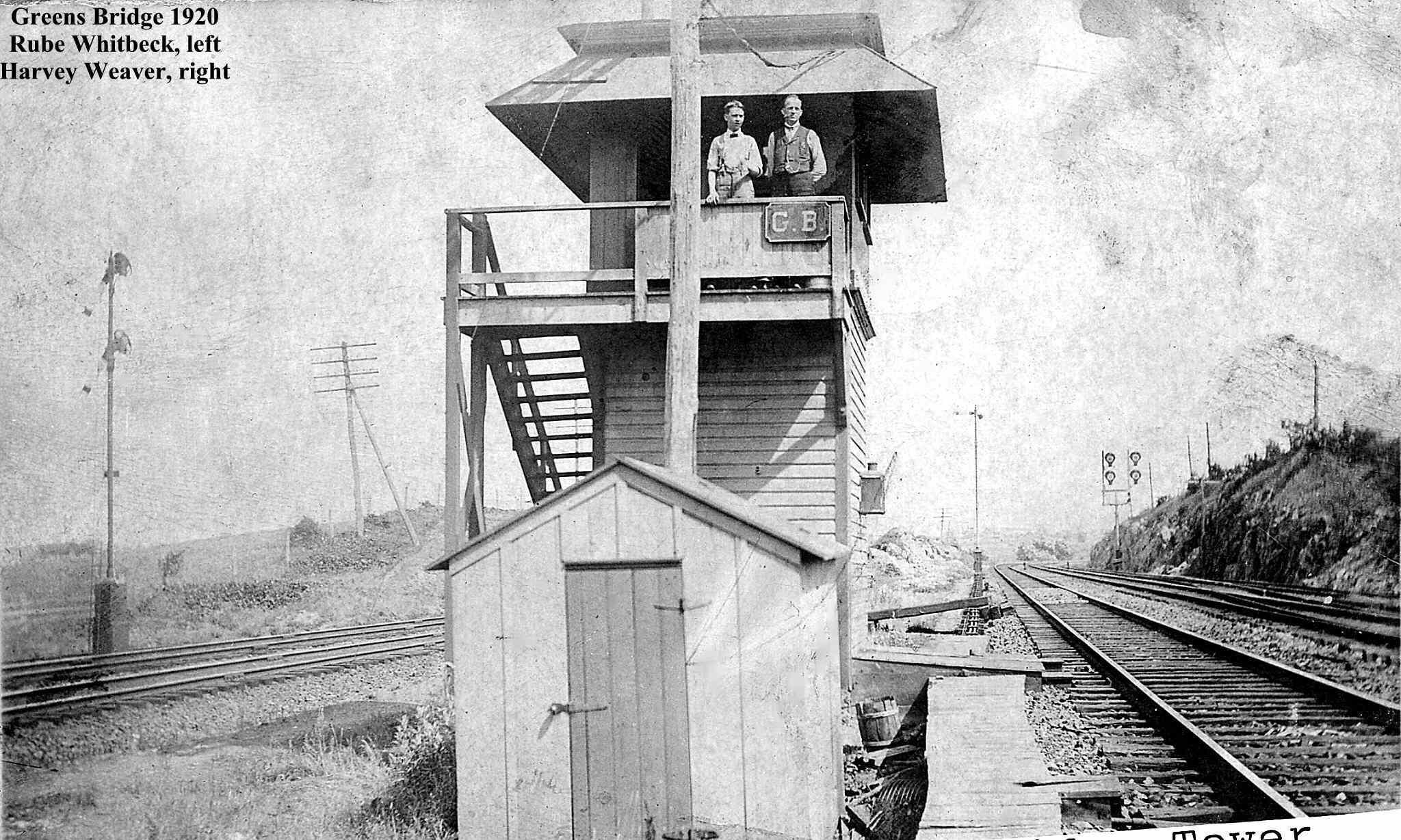 Green Bridge Tower. Phillipsburg, N.J. 1920